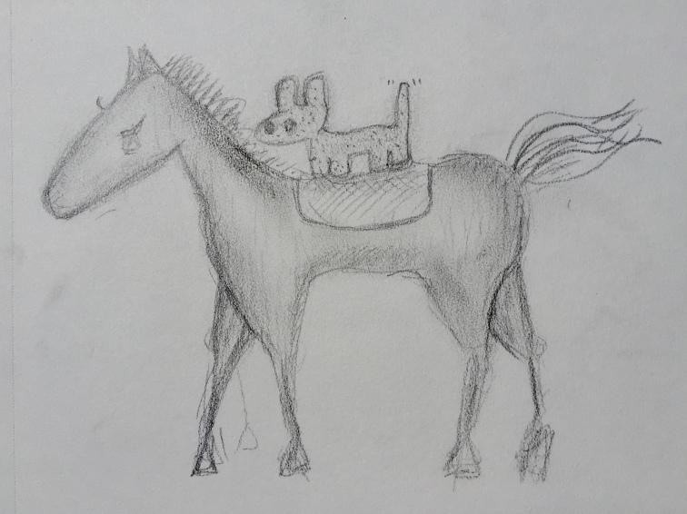 Puppy RIdes Pony