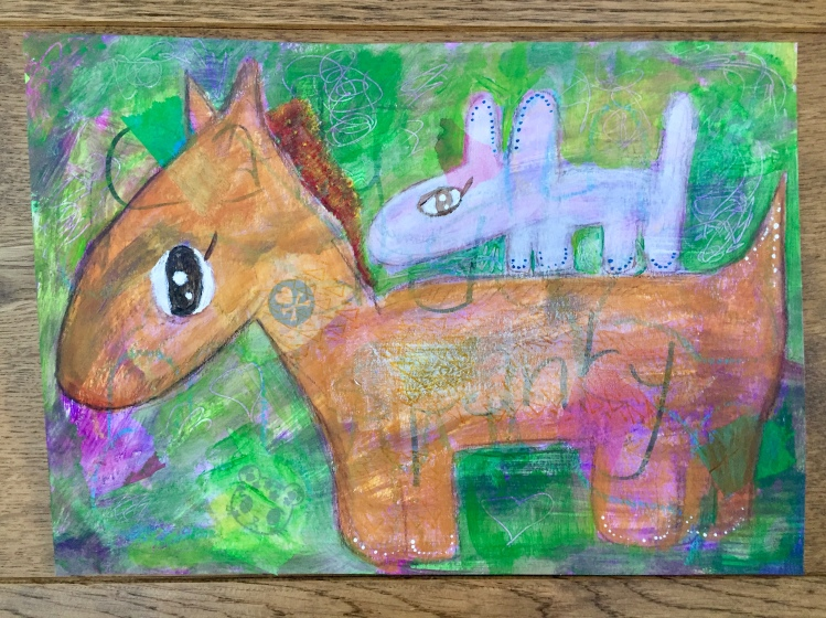 Puppy Rides Pony Again!
