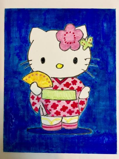 Nihonga Hello Kitty