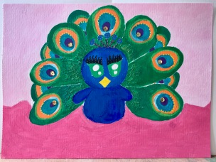 Quirky Peacock