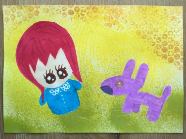 Red Wig and Lavender Fur
